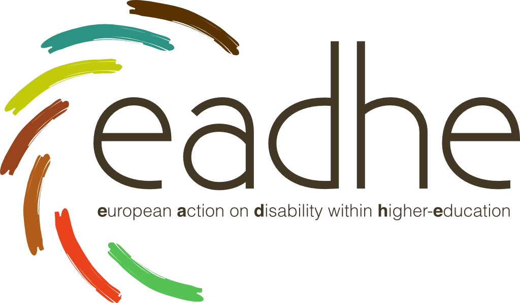 Logo of EADHE project. Arcs of different colours around the EADHE letters.